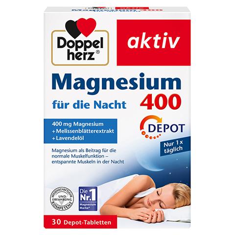 DOPPELHERZ Magnesium 400 f�r die Nacht Tabletten 30 St�ck
