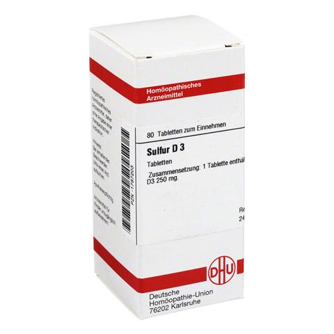 SULFUR D 3 Tabletten 80 Stück N1
