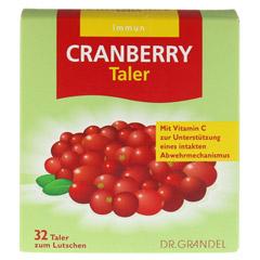 Cranberry Cerola Taler Grandel 32 Stück - Vorderseite