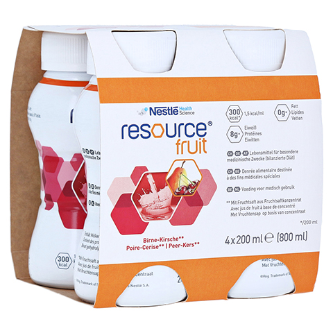 RESOURCE Fruit Birne Kirsche 4x200 Milliliter