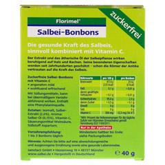 FLORIMEL Salbeibonbons m.Vitamin C zuckerfrei 40 Gramm - Rückseite