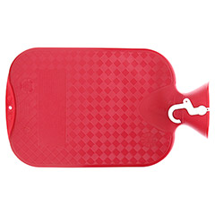 FASHY Wärmflasche glatt cranberry 6420 42 1 Stück - Rückseite