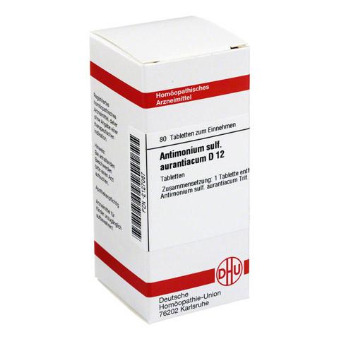 ANTIMONIUM SULFURATUM aurantiacum D 12 Tabletten 80 St�ck N1
