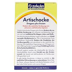 ZIRKULIN Artischocke Dragees plus Enzian 100 Stück - Rückseite