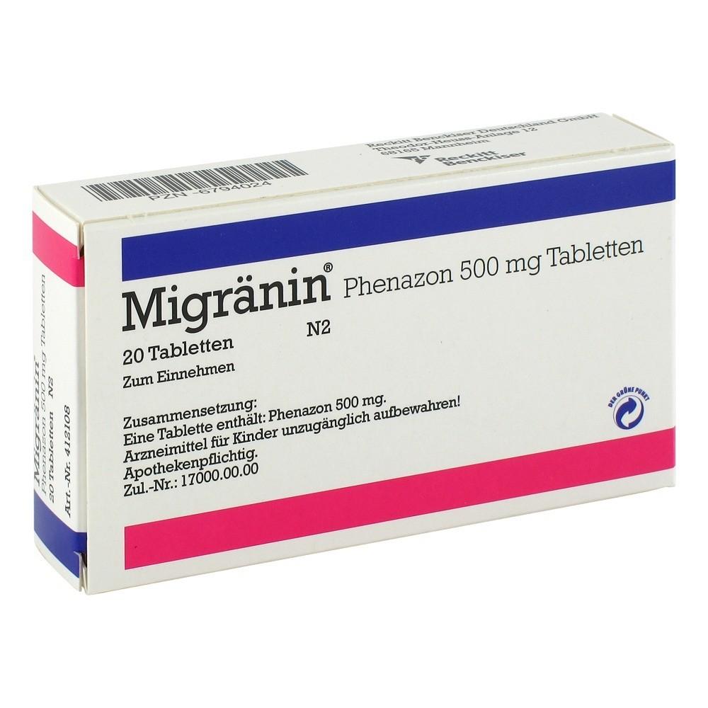 erfahrungen zu migr nin phenazon 500 mg tabletten 20 st ck medpex versandapotheke. Black Bedroom Furniture Sets. Home Design Ideas