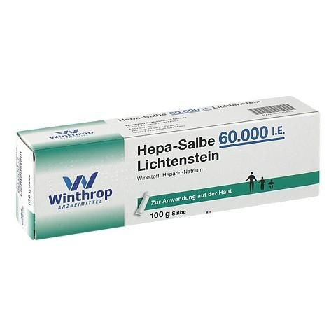 Hepa-Salbe 60000I.E. Lichtenstein 100 Gramm N2