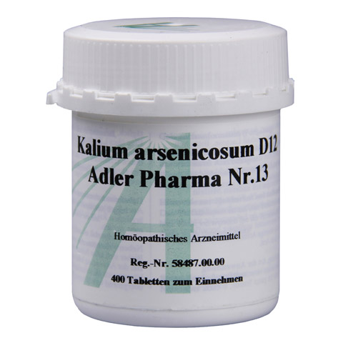 BIOCHEMIE Adler 13 Kalium arsenicosum D 12 Tabl. 400 St�ck