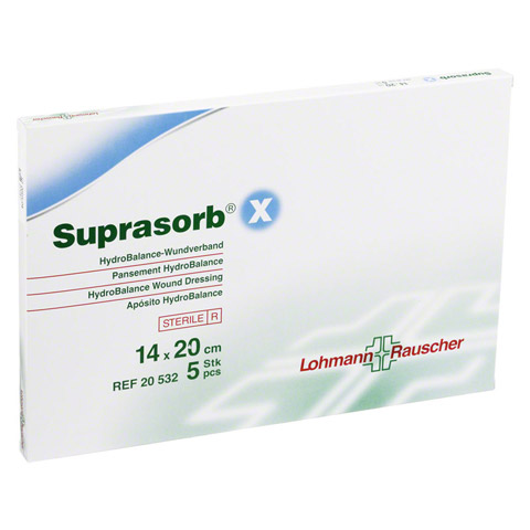 SUPRASORB X HydroBalance Wundverb.14x20 cm 5 St�ck