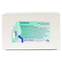 METAHEPAT Injektionsl�sung 50x2 Milliliter N2 - R�ckseite