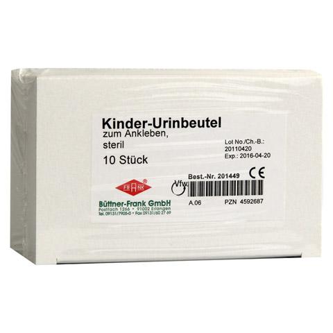 URIN AUFFANGBTL. steril 100 ml f.Kind z.Ankleben 10 Stück