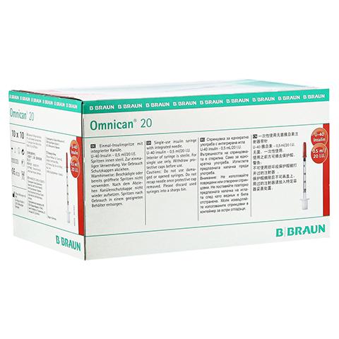 OMNICAN Insulinspr.0,5 ml U40 m.Kan.0,30x8 mm 100 Stück