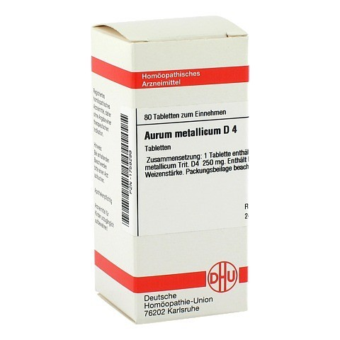 AURUM METALLICUM D 4 Tabletten 80 Stück N1