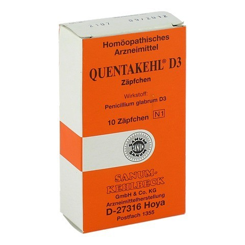 QUENTAKEHL D 3 Suppositorien 10 Stück N1