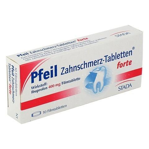 Pfeil Zahnschmerz-Tabletten forte 400mg 10 Stück N1