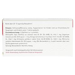 ECHINACEA/MERCURIUS comp.Kindersuppositorien 10x1 Gramm N1 - Rückseite