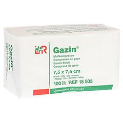 GAZIN Mullkomp.7,5x7,5 cm unsteril 8fach Op 100 St�ck