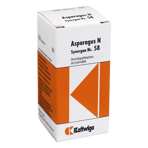 SYNERGON KOMPLEX 58 Asparagus N Tabletten 100 Stück
