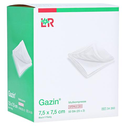 GAZIN Mullkomp.7,5x7,5 cm steril 8fach 25x2 Stück