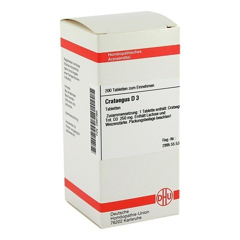 CRATAEGUS D 3 Tabletten 200 St�ck N2
