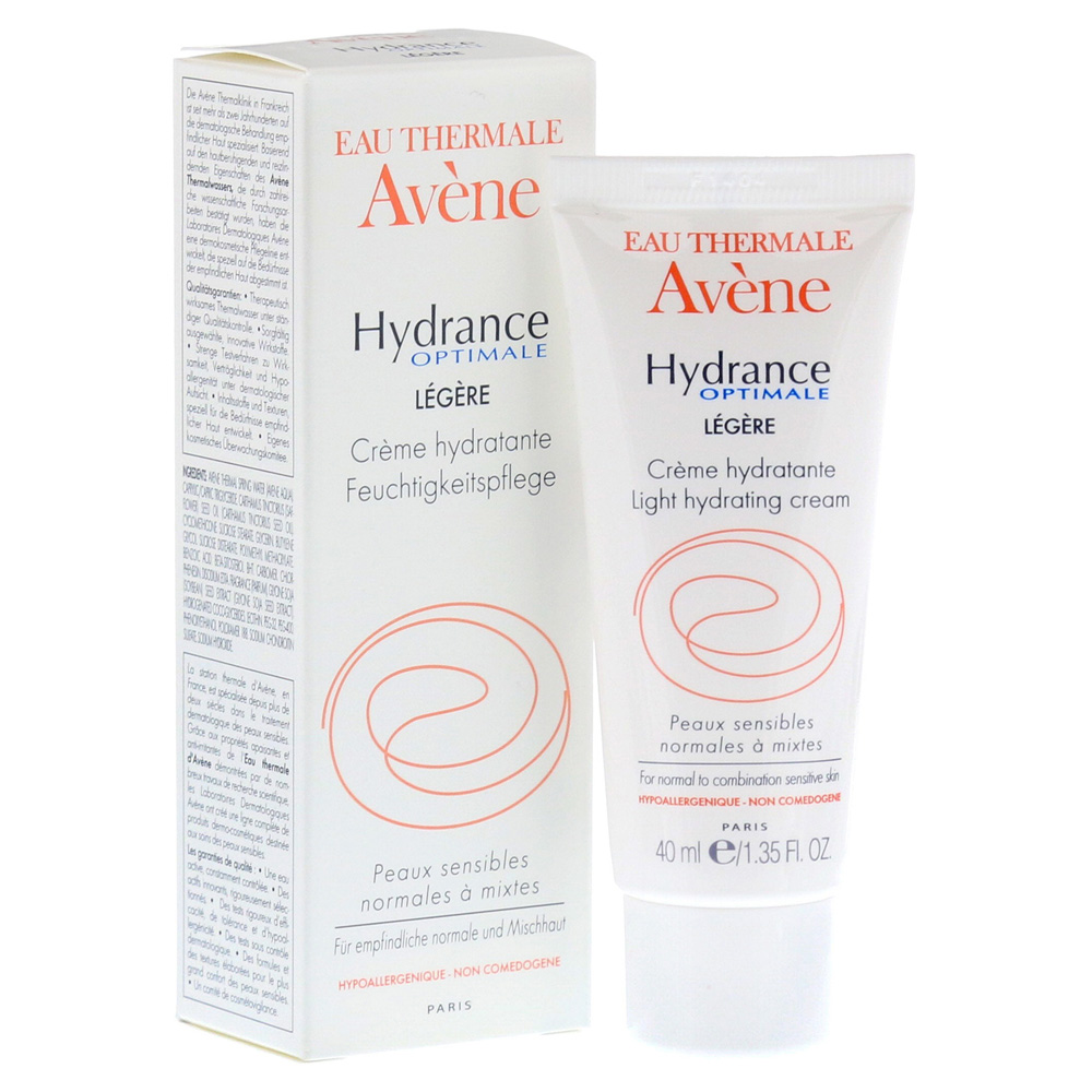 erfahrungen zu avene hydrance optimale legere creme 40. Black Bedroom Furniture Sets. Home Design Ideas