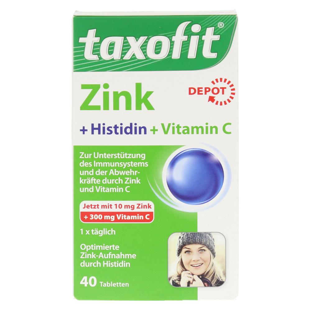 taxofit zink histidin mit vitamin c tabletten 40 st ck. Black Bedroom Furniture Sets. Home Design Ideas