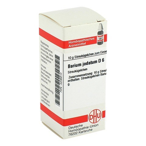 BARIUM JODATUM D 6 Globuli 10 Gramm N1
