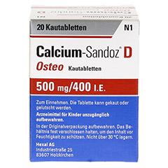 Calcium-Sandoz D Osteo 500mg/400I.E. 20 Stück N1 - Rückseite