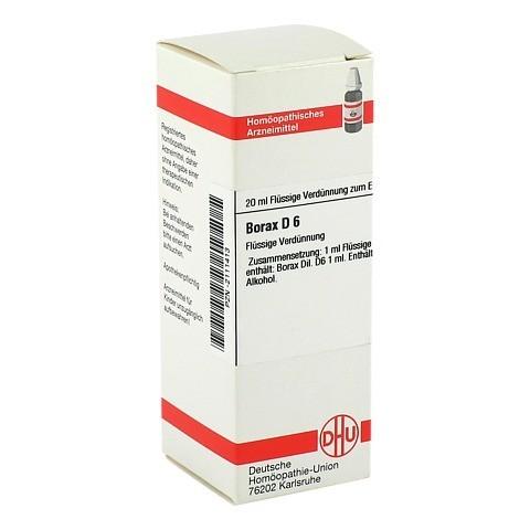 BORAX D 6 Dilution 20 Milliliter N1