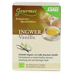INGWER VANILLE Tee Bio Salus Filterbeutel 15 Stück - Rückseite