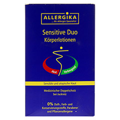ALLERGIKA sensitive Duo Körperlotionen 2x500 Milliliter - Vorderseite