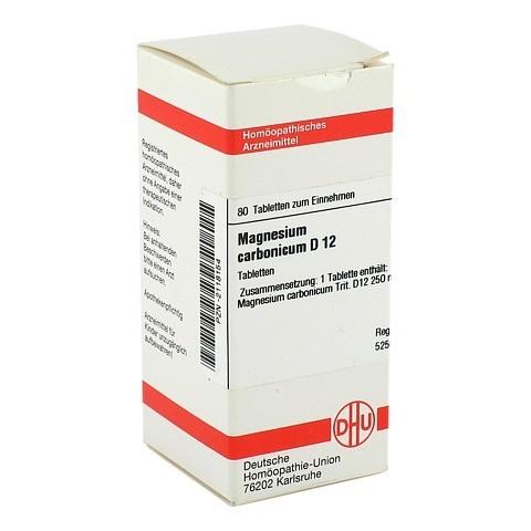 MAGNESIUM CARBONICUM D 12 Tabletten 80 Stück N1