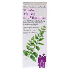 SEDINFANT Melisse mit Vitaminen flüssig 100 Milliliter - Rückseite