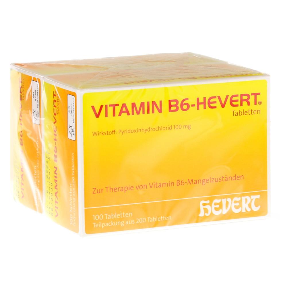 vitamin b6 hevert tabletten 200 st ck online bestellen medpex versandapotheke. Black Bedroom Furniture Sets. Home Design Ideas