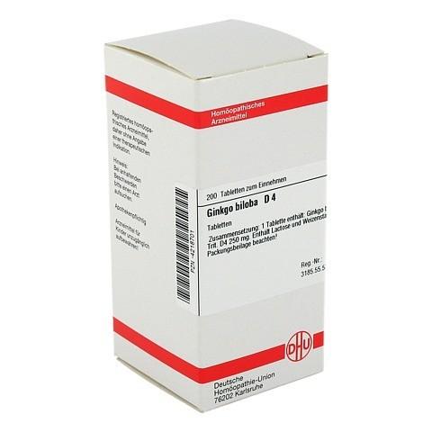 GINKGO BILOBA D 4 Tabletten 200 Stück N2