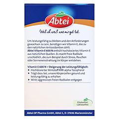 ABTEI Vitamin E 600 (Forte Plus) 30 Stück - Rückseite