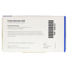 CARBO BETULAE D 20 Ampullen 8x1 Milliliter N1 - Rückseite