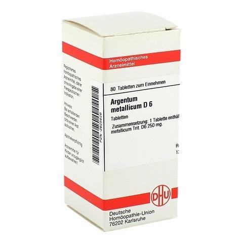 ARGENTUM METALLICUM D 6 Tabletten 80 St�ck N1