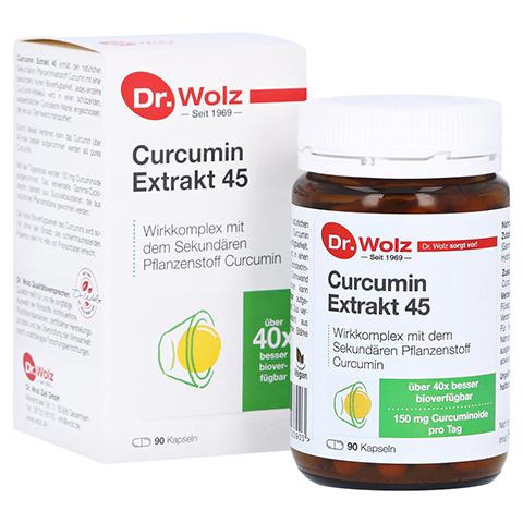 CURCUMIN Extrakt 45 Dr. Wolz Kapseln 90 Stück