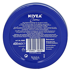 NIVEA CREME Dose 400 Milliliter - R�ckseite