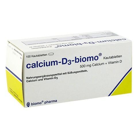 CALCIUM D3 biomo Kautabletten 500+D 100 Stück