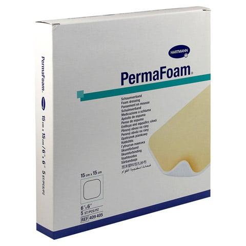 PERMAFOAM Schaumverband 15x15 cm 5 Stück