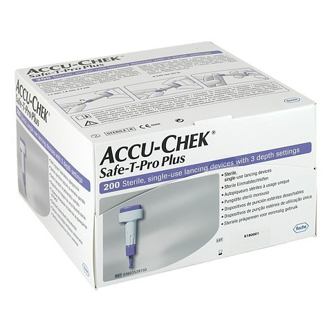 ACCU CHEK Safe T Pro Plus Lanzetten 200 Stück