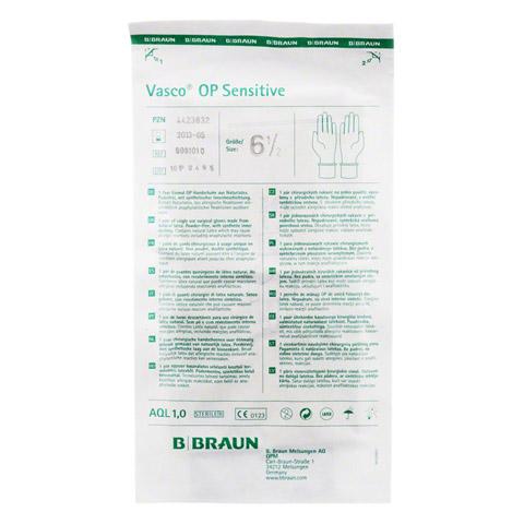 VASCO Op Handschuhe steril puderfrei Gr.6,5 2 Stück