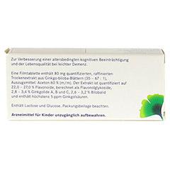 GINKGOVITAL Heumann 80mg 30 St�ck N1 - R�ckseite
