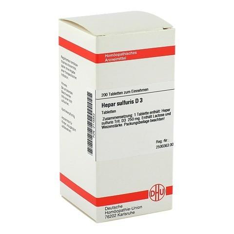 HEPAR SULFURIS D 3 Tabletten 200 St�ck N2