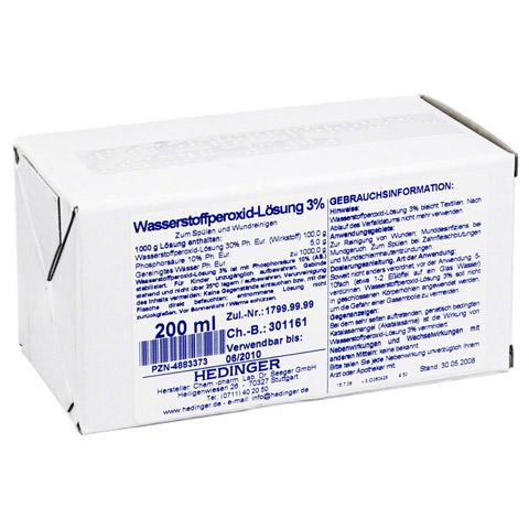 WASSERSTOFFPEROXID-Lösung 3% Standardzulassung 200 Milliliter