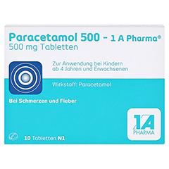 Paracetamol 500-1A Pharma 10 Stück N1 - Vorderseite