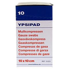 MULLKOMPRESSEN Ypsipad 10x10 cm steril 8fach 25x2 Stück - Linke Seite
