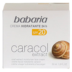 BABARIA Schneckenextrakt Feuchtigkeitscreme LSF 20 50 Milliliter - Vorderseite