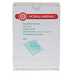 NOBALUMENAL Augenkompr.54x70 mm steril 25 Stück - Vorderseite